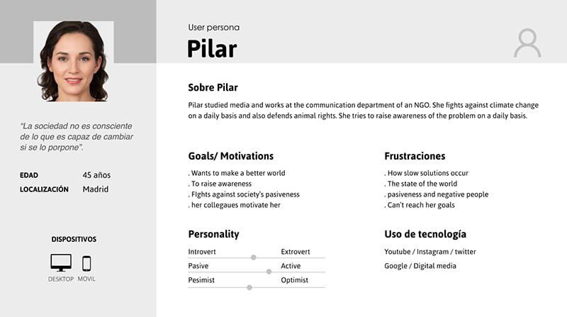 User Persona Pilar
